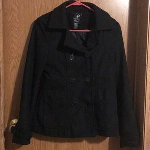 Full Tilt black pea coat